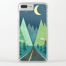 The Long Road at Night Clear iPhone Case