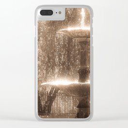 Fountain Clear iPhone Case