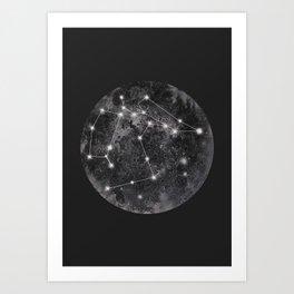 Constellation Black Art Print