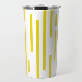 Minimalist Lines – Yellow Travel Mug