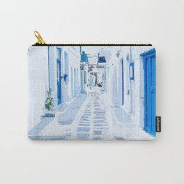 MyKonos Greece Watercolor Digital Painting Carry-All Pouch