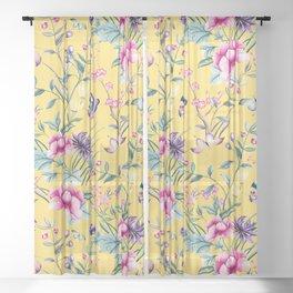 Sunny Garden Paradise Sheer Curtain