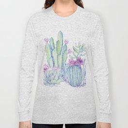Mixed Cacti White #society6 #buyart Long Sleeve T-shirt