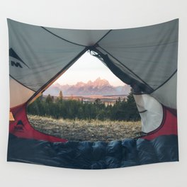 Teton Tent View Wall Tapestry