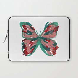 Pink and Green Butterfly Laptop Sleeve