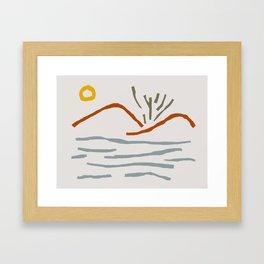 Nature Land Framed Art Print