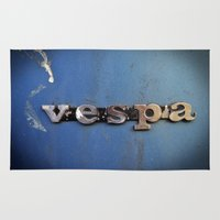 vespa Area & Throw Rugs featuring vespa by rhythmmess