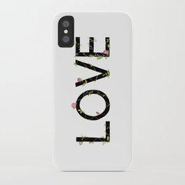 LOVE in bloom iPhone Case