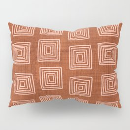 Labyrinth in Rust Pillow Sham