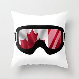 Canadian Goggles | Goggle Art Design | DopeyArt Throw Pillow