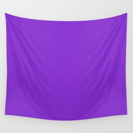 Solid Dark Purple Violet Color Wall Tapestry