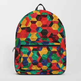 Colorful Half Hexagons Pattern #03 Backpack