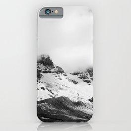 Smokey Mountains Landscape Black & White iPhone Case