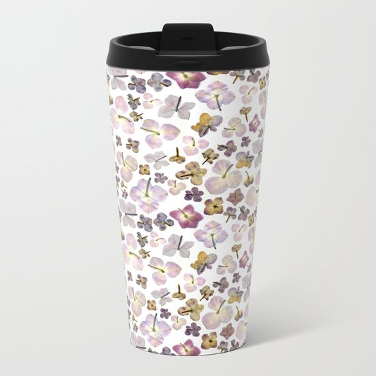 Scattered Hydrangea Metal Travel Mug