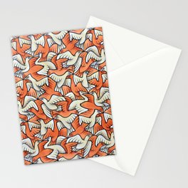 Birdwatching Bali Birds Ornithology Tessellation Stationery Cards