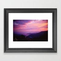 French Riviera Sunset Framed Art Print