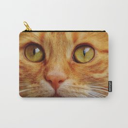 Orange Cat Face Carry-All Pouch