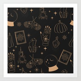 Mystical Halloween Art Print