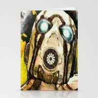 borderlands Stationery Cards featuring Borderlands Psycho by Joe Misrasi