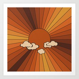 Retro Sunshine Art Print