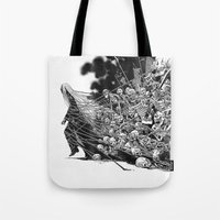 scary Tote Bags featuring Scary Soul by bimorecreative