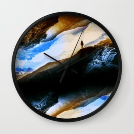 Vision of fire and ice Wall Clock