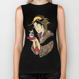 Tea time with Frenchie Biker Tank