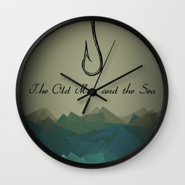 The Old Man and the Sea Wall Clock