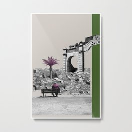 A Homeland souvenir #4: The gate & the palm tree. Metal Print