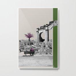 A Homeland souvenir #4: The gate & the palm tree. Metal Print