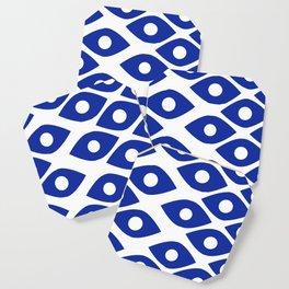 Blue and White Pattern Fish Eye Design Coaster