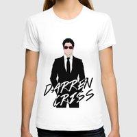 darren criss T-shirts featuring Pink Darren Criss by byebyesally
