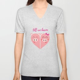 Love Pigs Unisex V-Neck