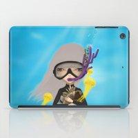 scuba iPad Cases featuring scuba by Anne  Martwijit