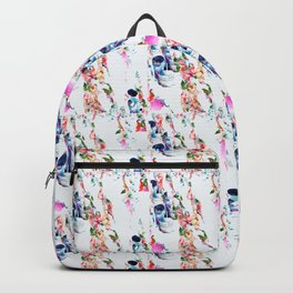 Muster Totenkopf und Blumen - Patterns Skull and Flowers Backpack