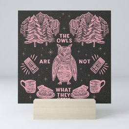 The Owls Are Not What They Seem | Twin Peaks | Agent Cooper | Spooky Symmetrical Illustration Print Mini Art Print