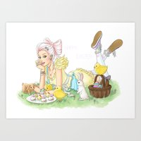 easter Art Prints featuring Easter by Lotty