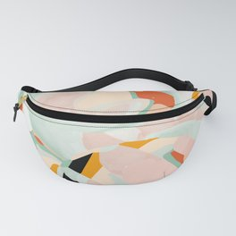 abstraction study in pastels Fanny Pack