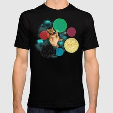 A PLAYFUL DAY Black MEDIUM Mens Fitted Tee