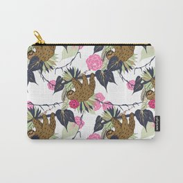 Sloth - Navy, Pink, Pistachio Carry-All Pouch