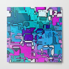 Abstract Segmented 1 Metal Print