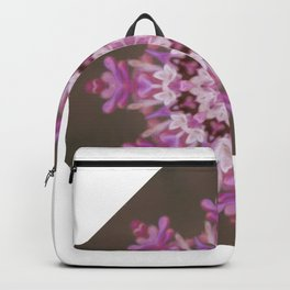 Lilac floral flake Backpack