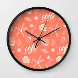 Sea shells patten Wall Clock