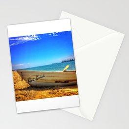 Row Boat at Long Beach California Stationery Cards