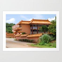 Budhist Temple2 Art Print