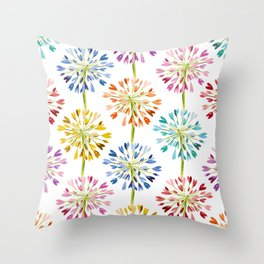 Heart Flower - colorful Throw Pillow