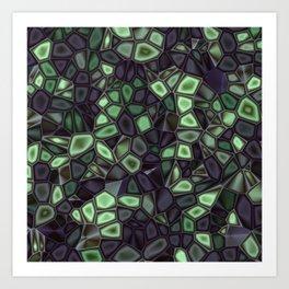 Fractal Gems 04 - Emerald Dreams Art Print