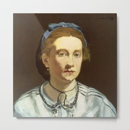 Edouard Manet - Victorine Meurent Metal Print