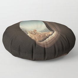 QUÈ PASA? NEVER STOP EXPLORING XXI Floor Pillow