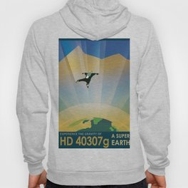 NASA Retro Space Travel Poster #6 Hoody